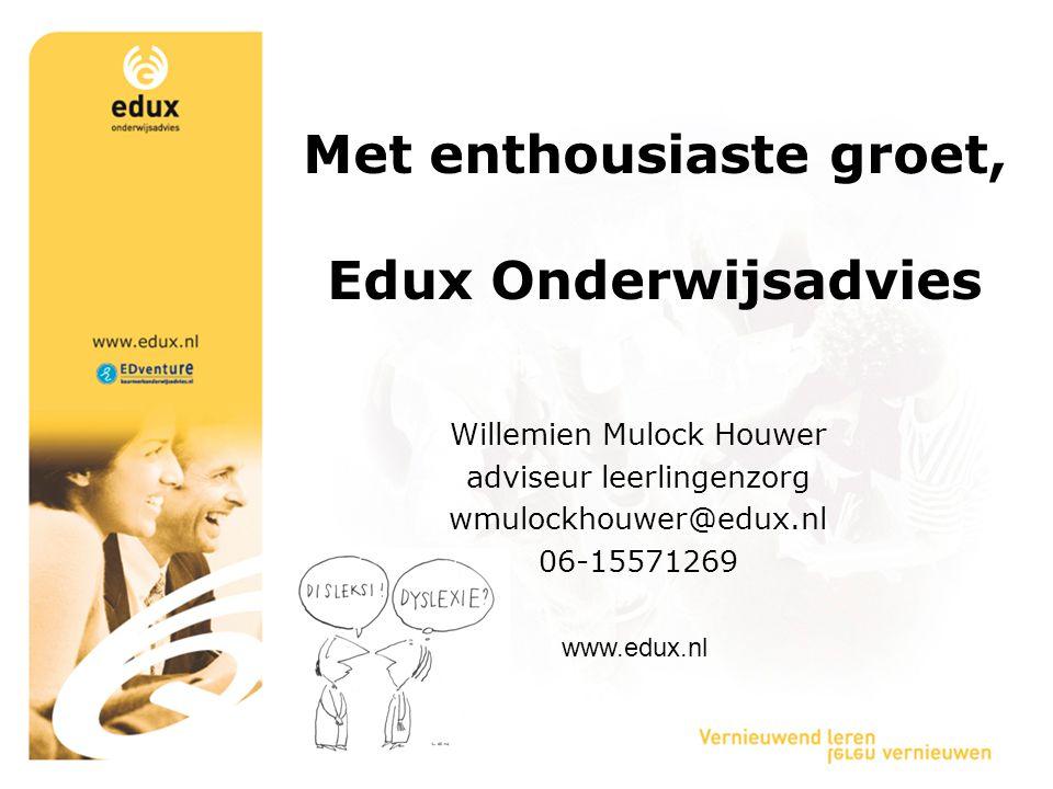 Met enthousiaste groet, Edux Onderwijsadvies