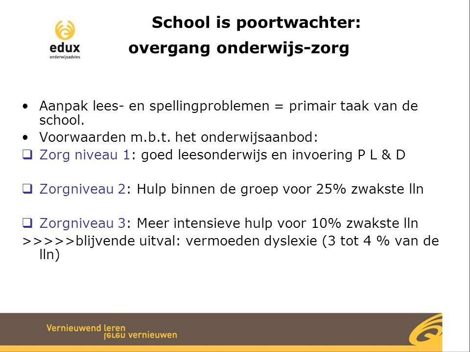 School is poortwachter: overgang onderwijs-zorg