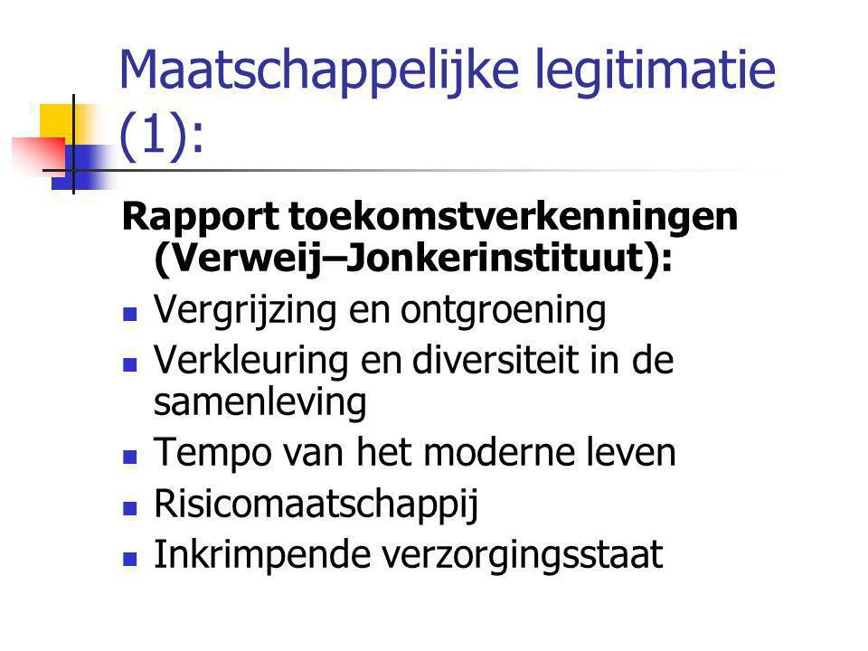 Maatschappelijke legitimatie (1):