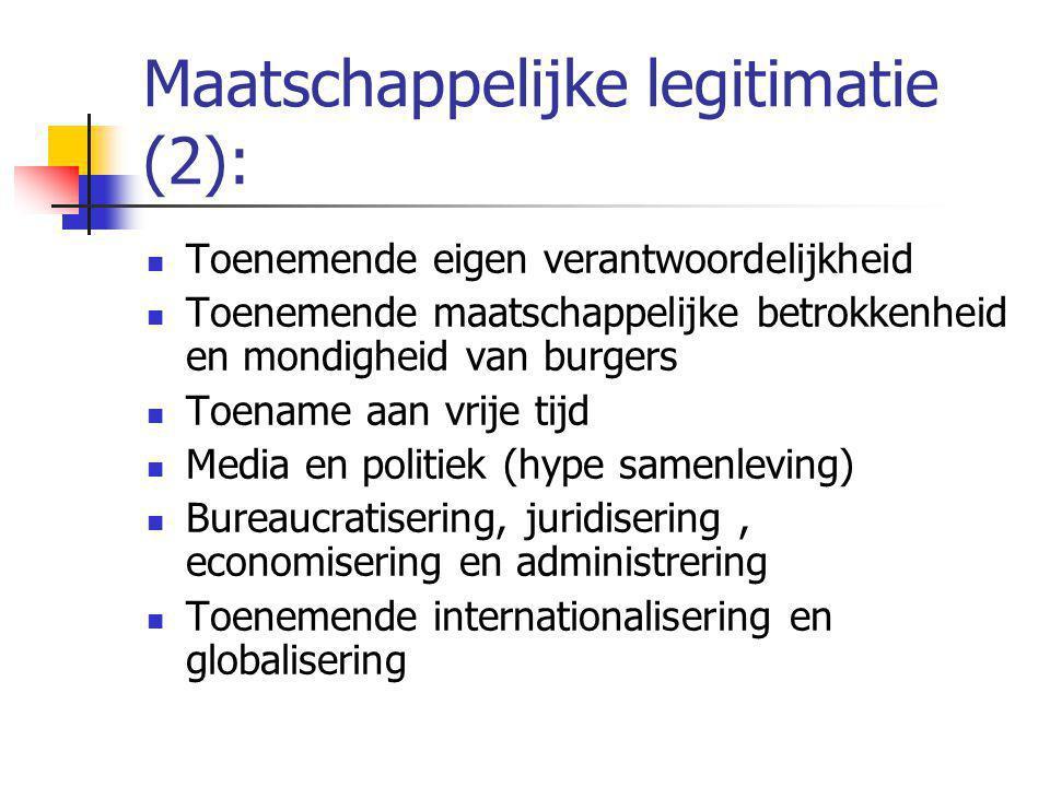 Maatschappelijke legitimatie (2):