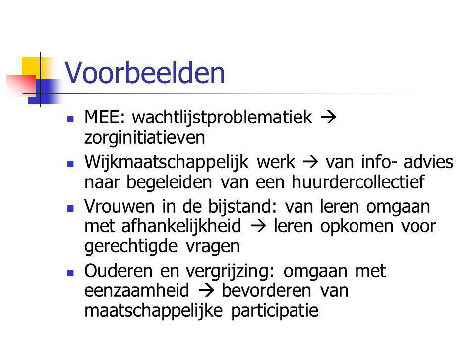Voorbeelden MEE: wachtlijstproblematiek  zorginitiatieven