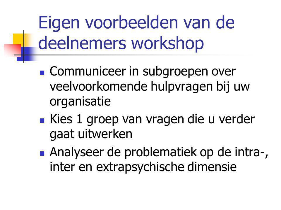 Eigen voorbeelden van de deelnemers workshop