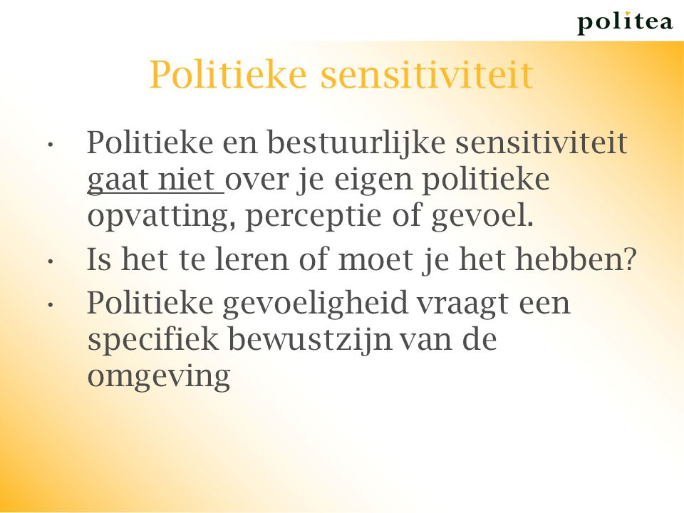 Politieke sensitiviteit