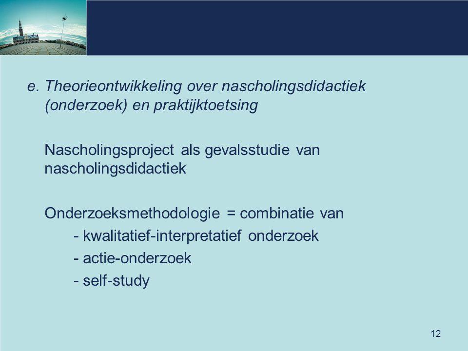 Nascholingsproject als gevalsstudie van nascholingsdidactiek