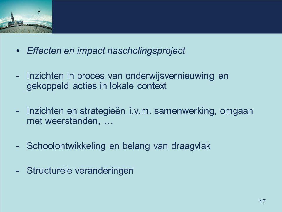 Effecten en impact nascholingsproject