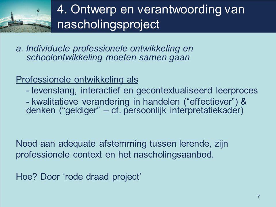 4. Ontwerp en verantwoording van nascholingsproject