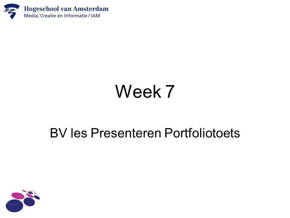 BV les Presenteren Portfoliotoets