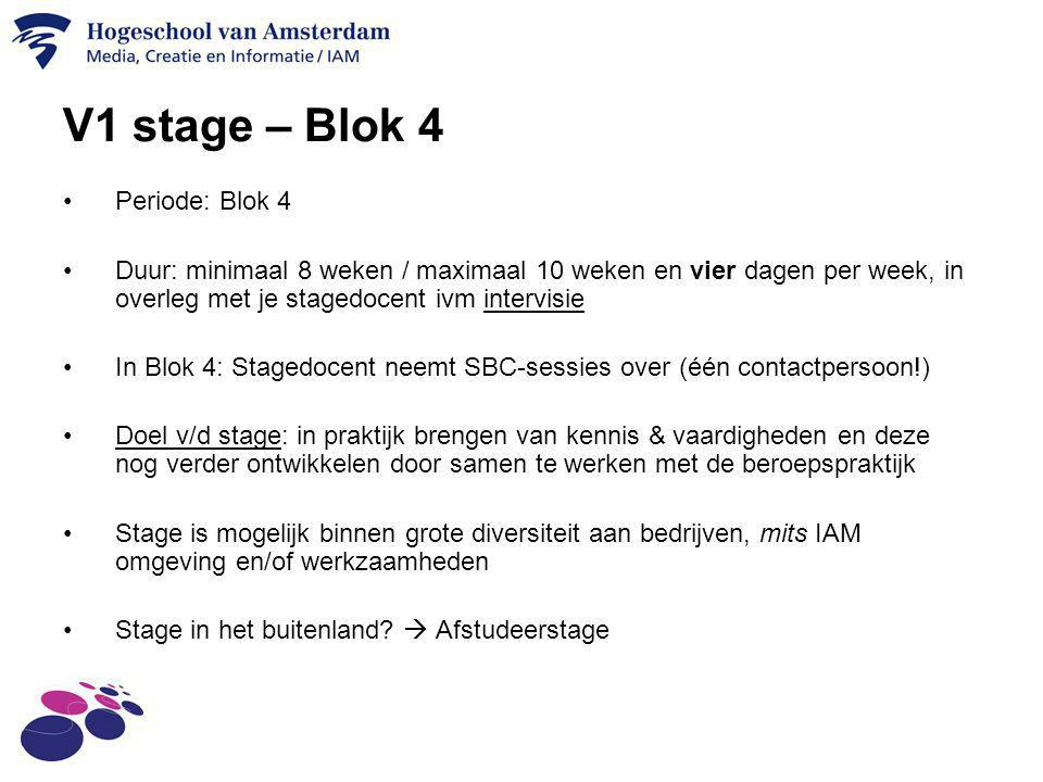 V1 stage – Blok 4 Periode: Blok 4