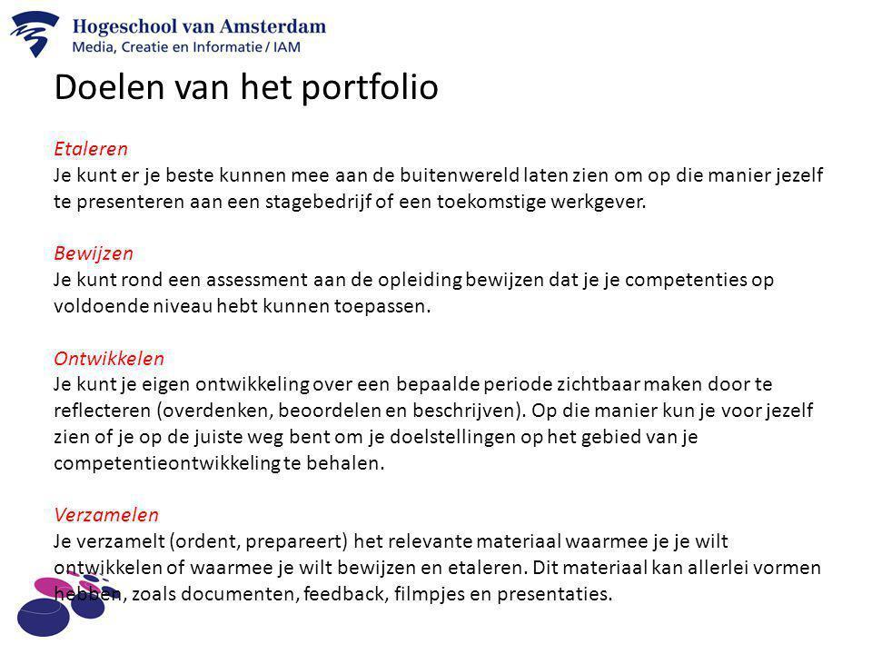Doelen van het portfolio
