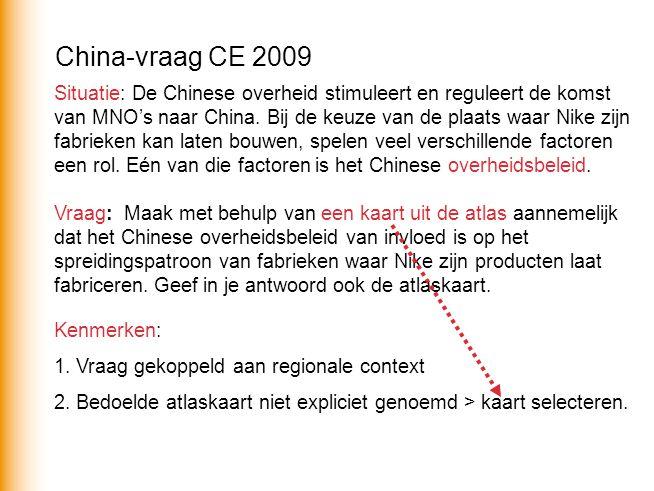 China-vraag CE 2009