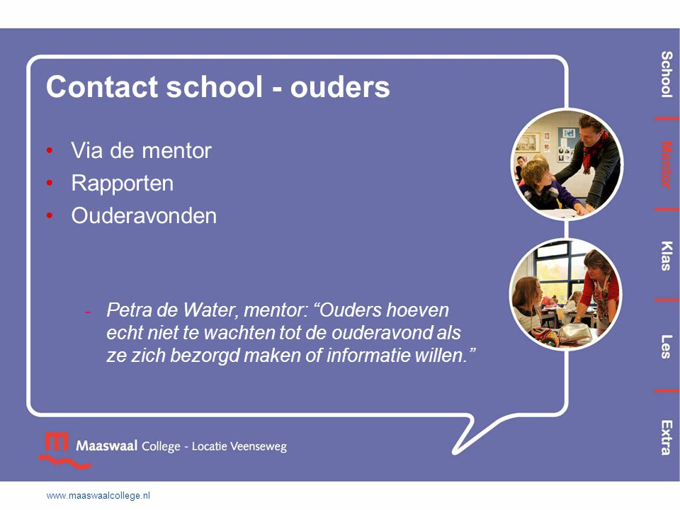 Contact school - ouders