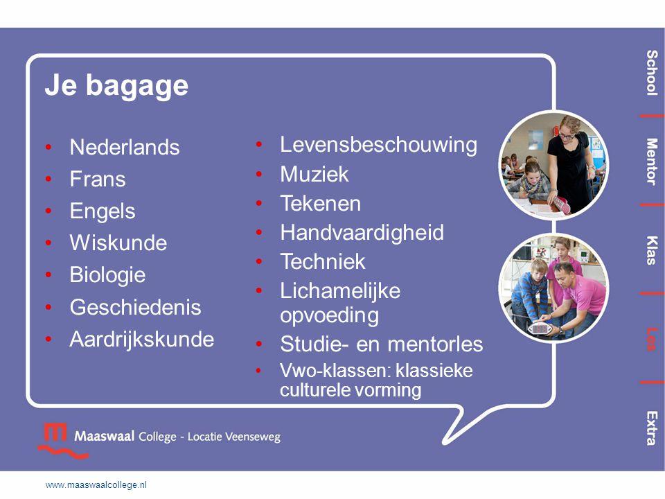 Je bagage Nederlands Frans Engels Wiskunde Biologie Geschiedenis