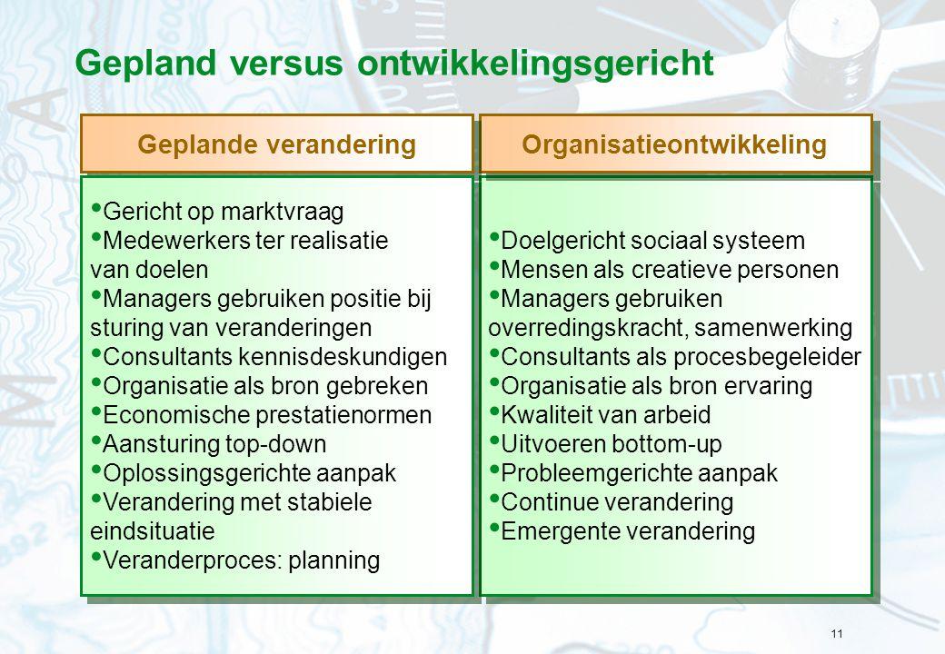 Gepland versus ontwikkelingsgericht
