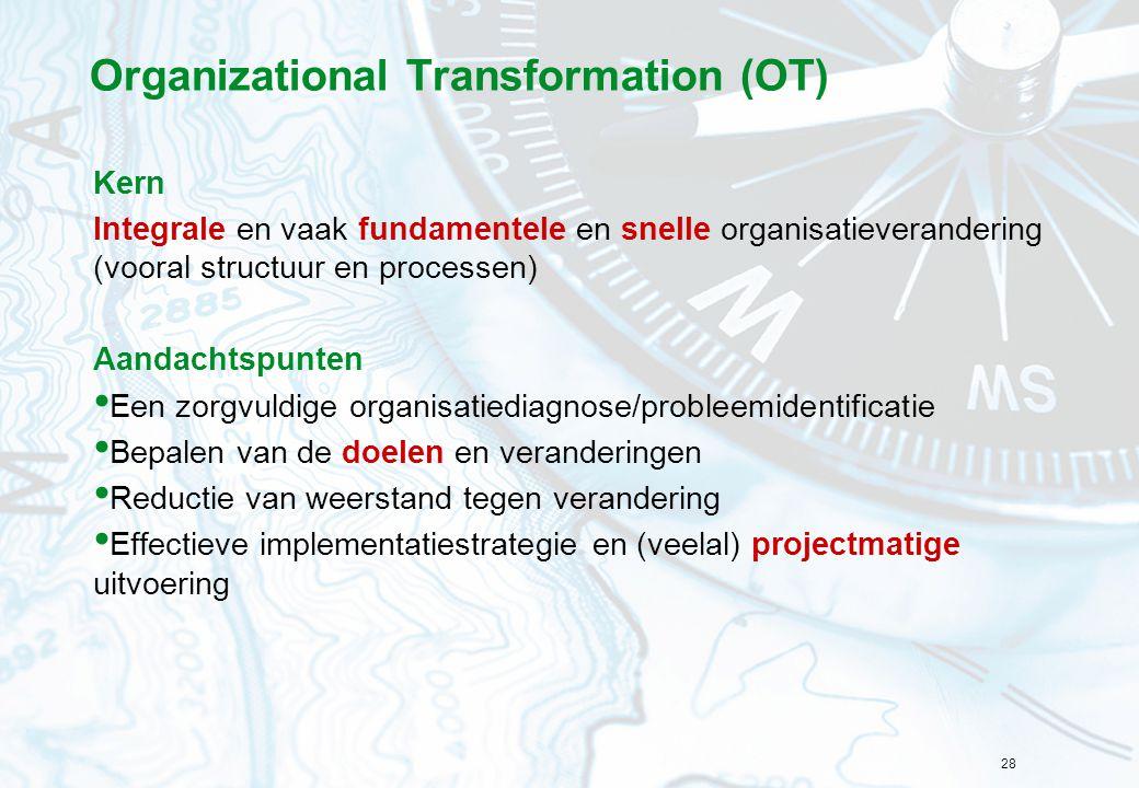 Organizational Transformation (OT)