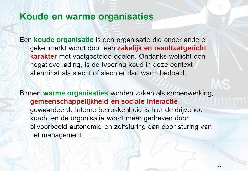 Koude en warme organisaties
