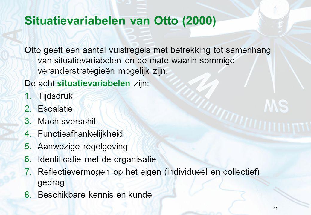 Situatievariabelen van Otto (2000)