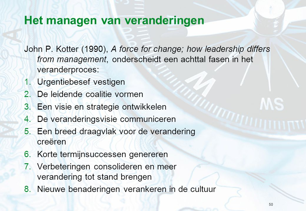 Het managen van veranderingen