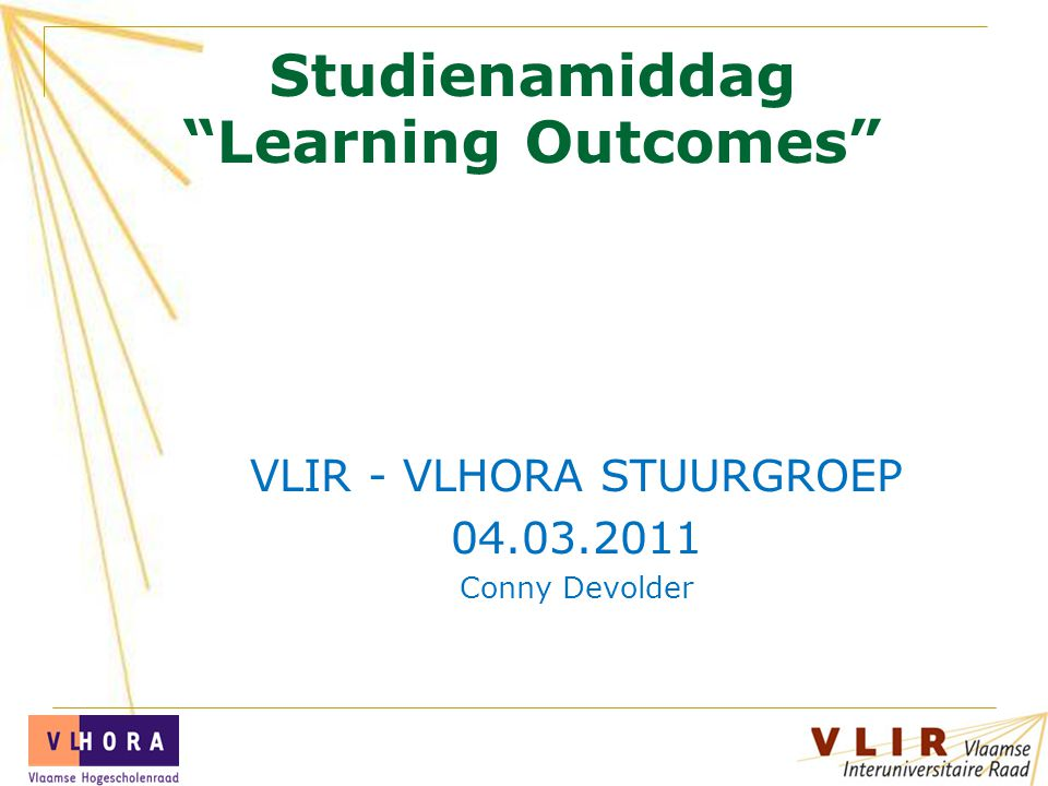 Studienamiddag Learning Outcomes