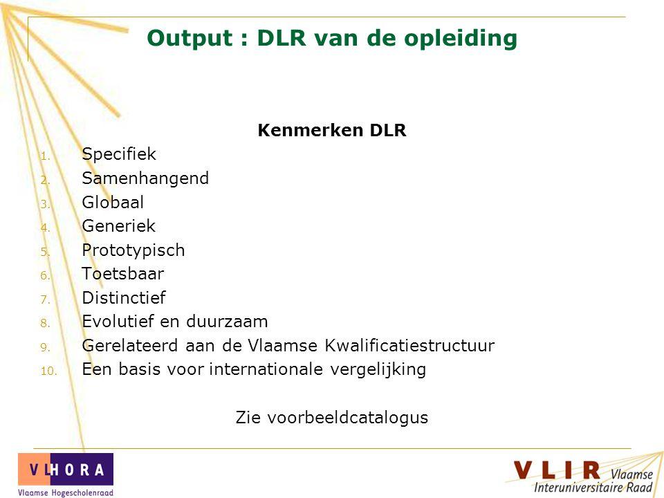 Output : DLR van de opleiding