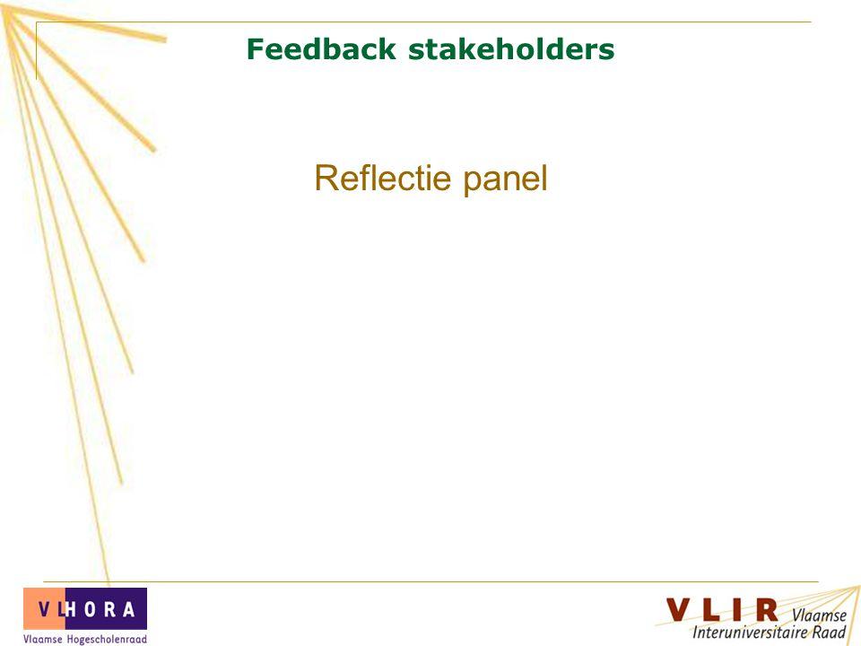 Feedback stakeholders