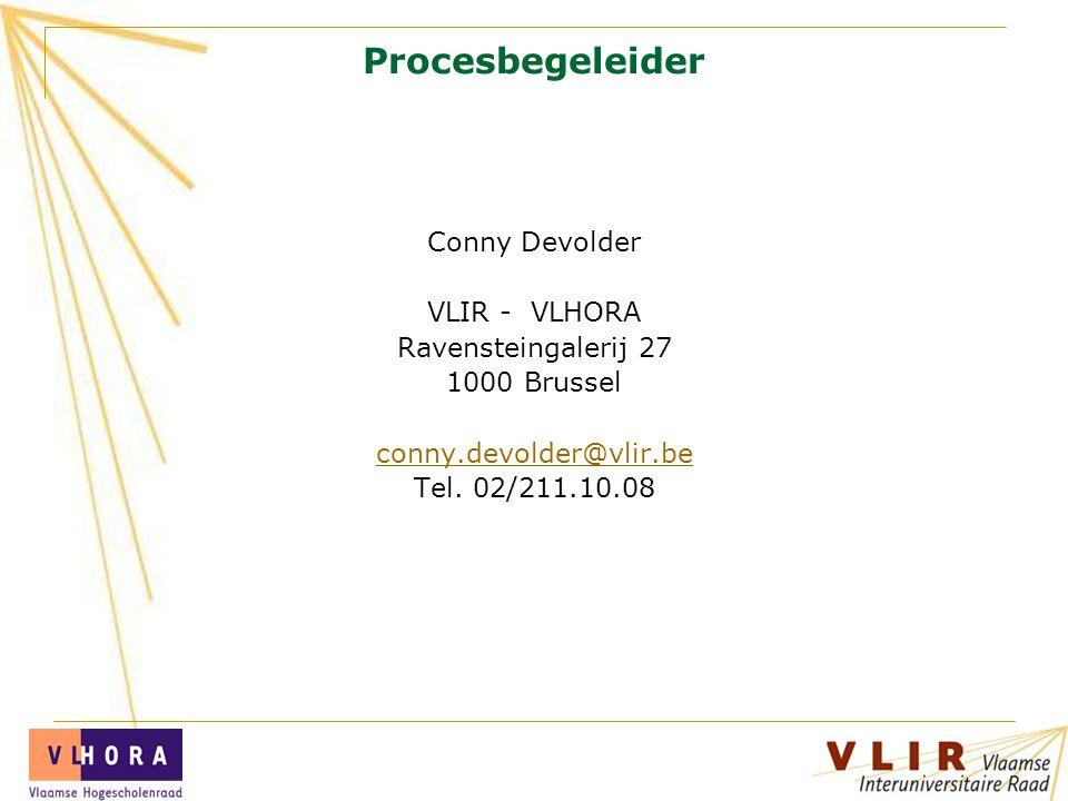 Procesbegeleider Conny Devolder VLIR - VLHORA Ravensteingalerij 27