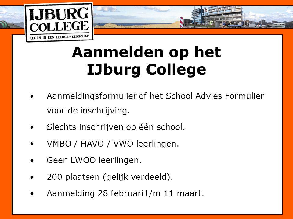 Aanmelden op het IJburg College