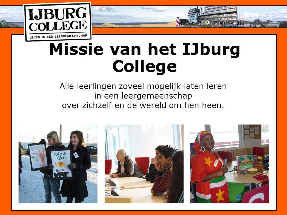Missie van het IJburg College