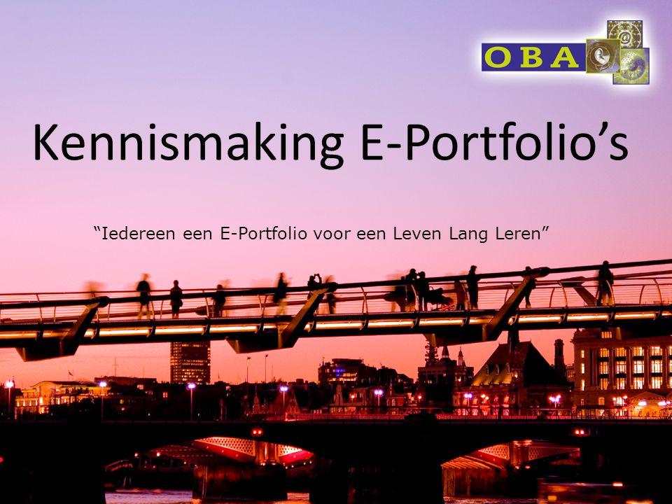 Kennismaking E-Portfolio's
