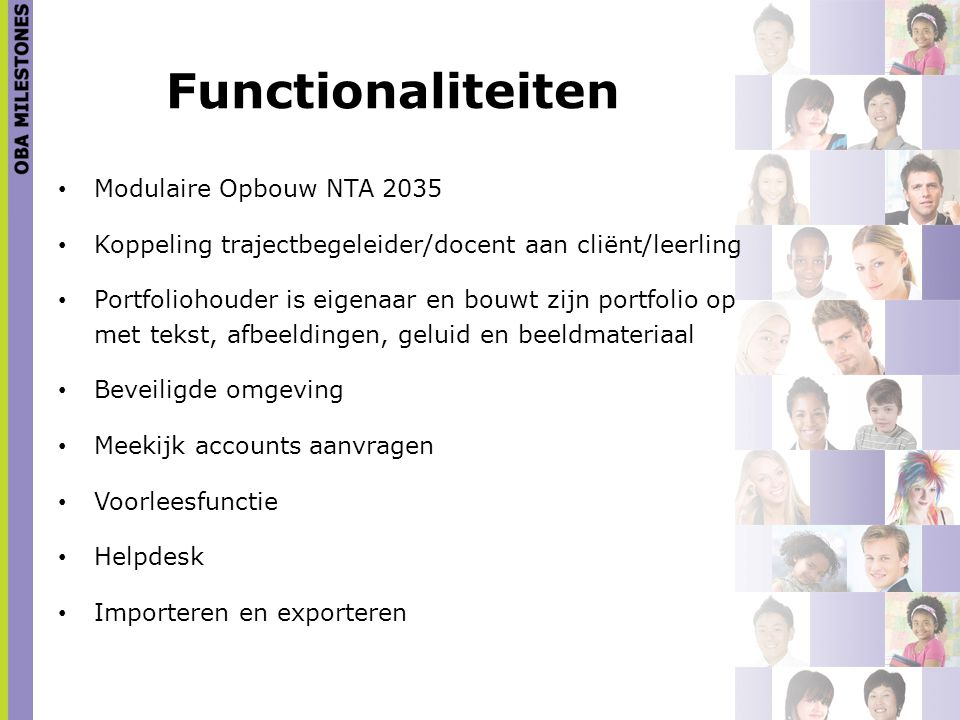 Functionaliteiten Modulaire Opbouw NTA 2035