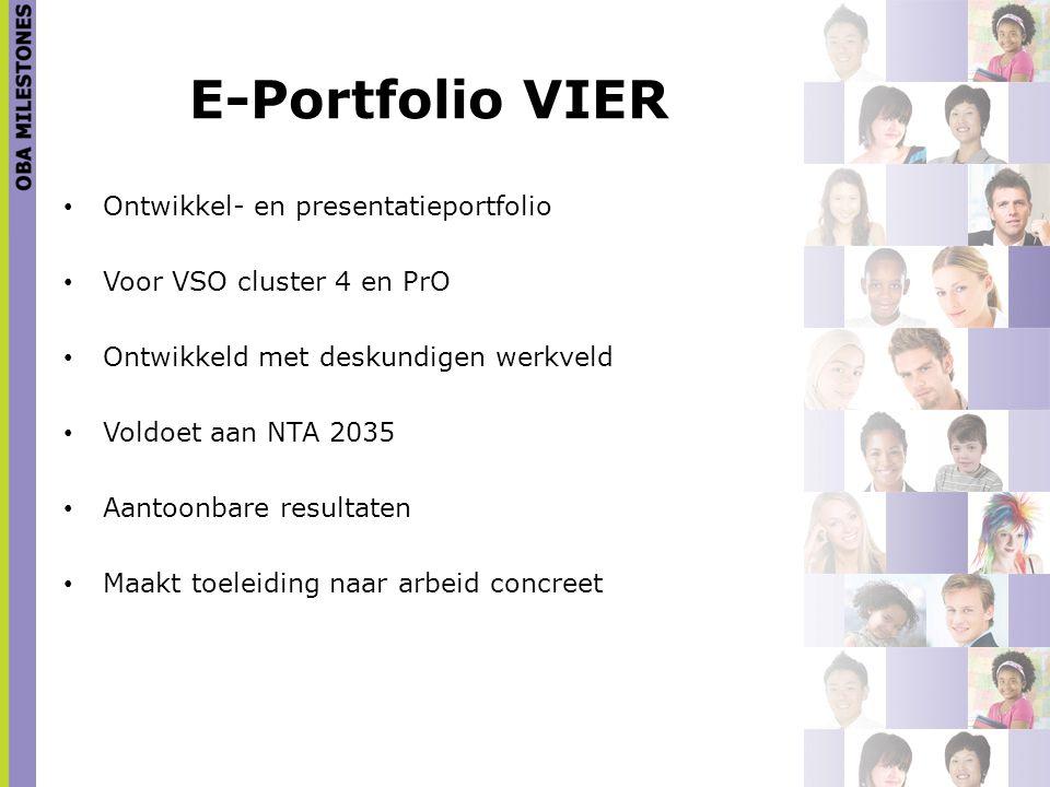 E-Portfolio VIER Ontwikkel- en presentatieportfolio