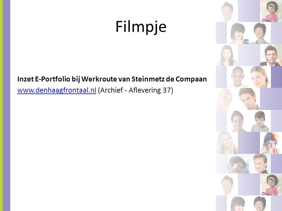 Filmpje Inzet E-Portfolio bij Werkroute van Steinmetz de Compaan www.denhaagfrontaal.nl (Archief - Aflevering 37)