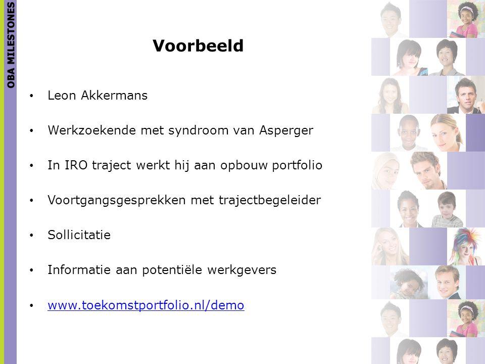 Voorbeeld Leon Akkermans Werkzoekende met syndroom van Asperger