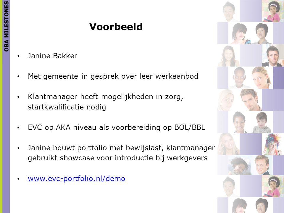 Voorbeeld Janine Bakker Met gemeente in gesprek over leer werkaanbod
