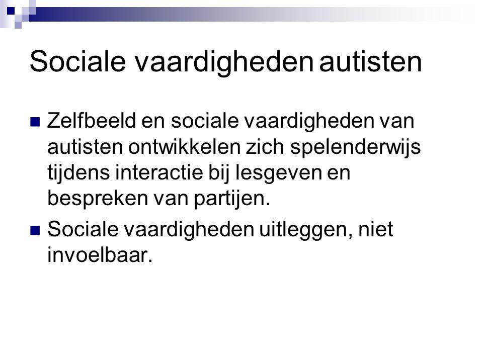 Sociale vaardigheden autisten