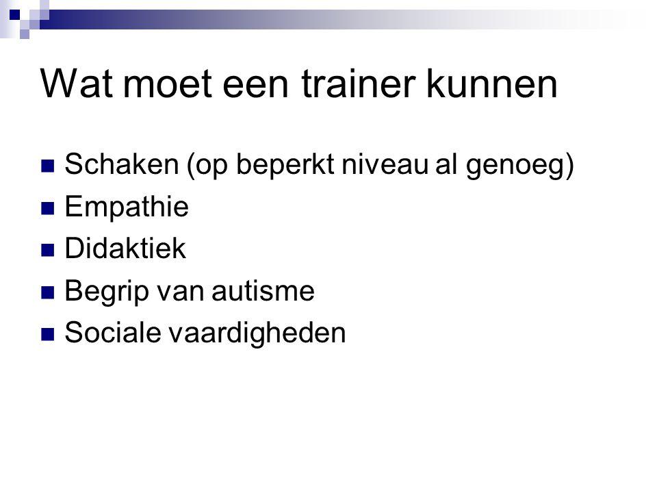 Wat moet een trainer kunnen