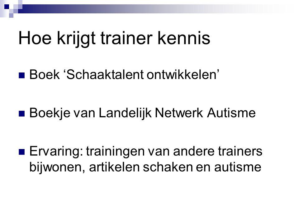 Hoe krijgt trainer kennis