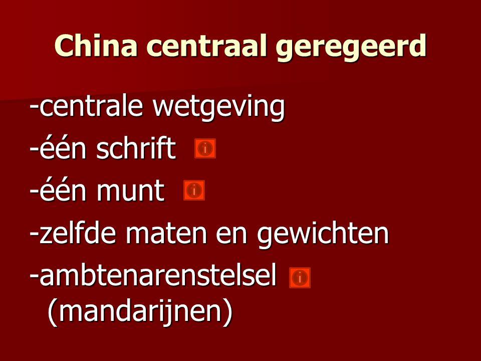 China centraal geregeerd