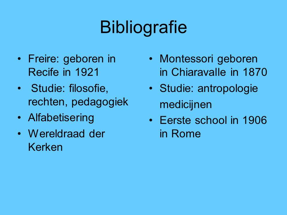 Bibliografie Freire: geboren in Recife in 1921