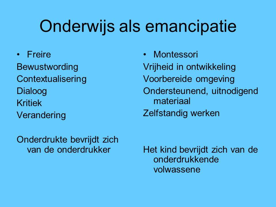 Onderwijs als emancipatie