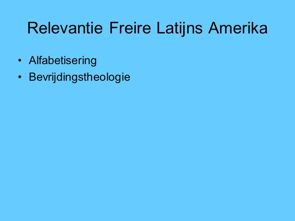 Relevantie Freire Latijns Amerika