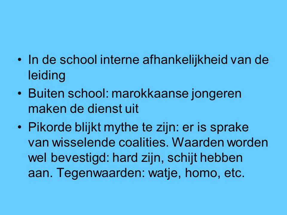 In de school interne afhankelijkheid van de leiding