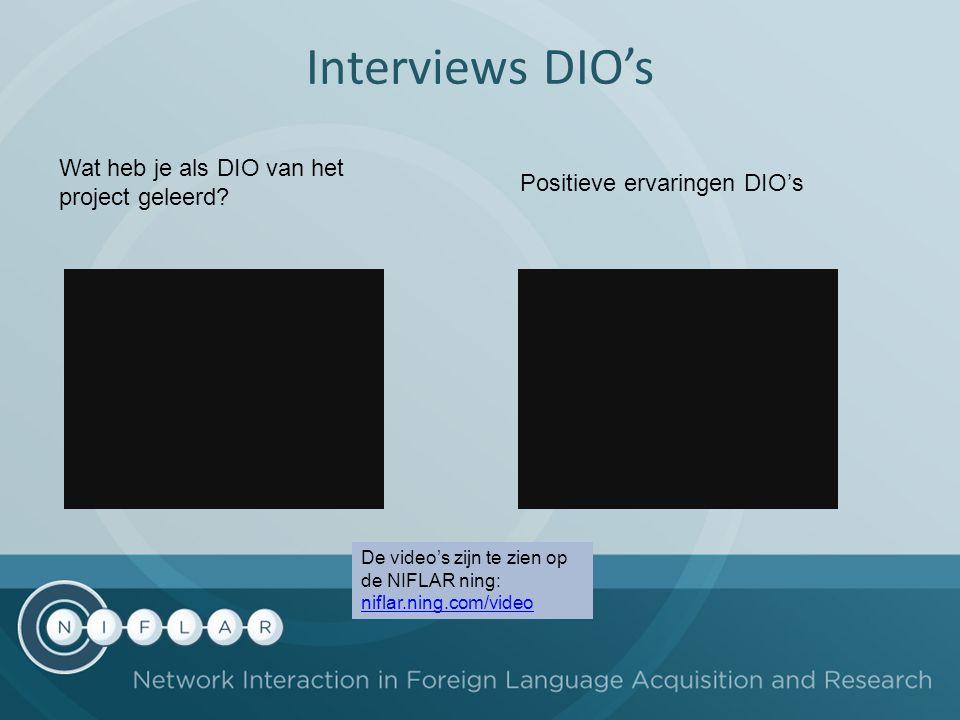 Interviews DIO's Wat heb je als DIO van het project geleerd