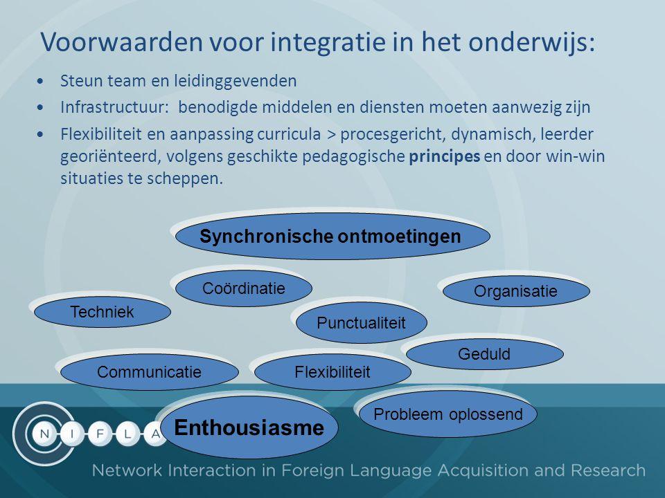 Voorwaarden voor integratie in het onderwijs: