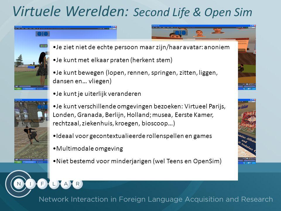 Virtuele Werelden: Second Life & Open Sim