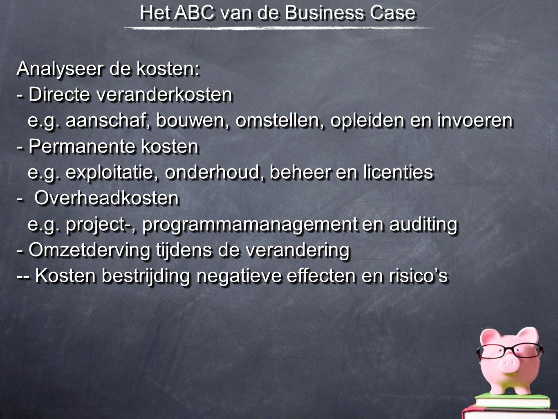 Het ABC van de Business Case
