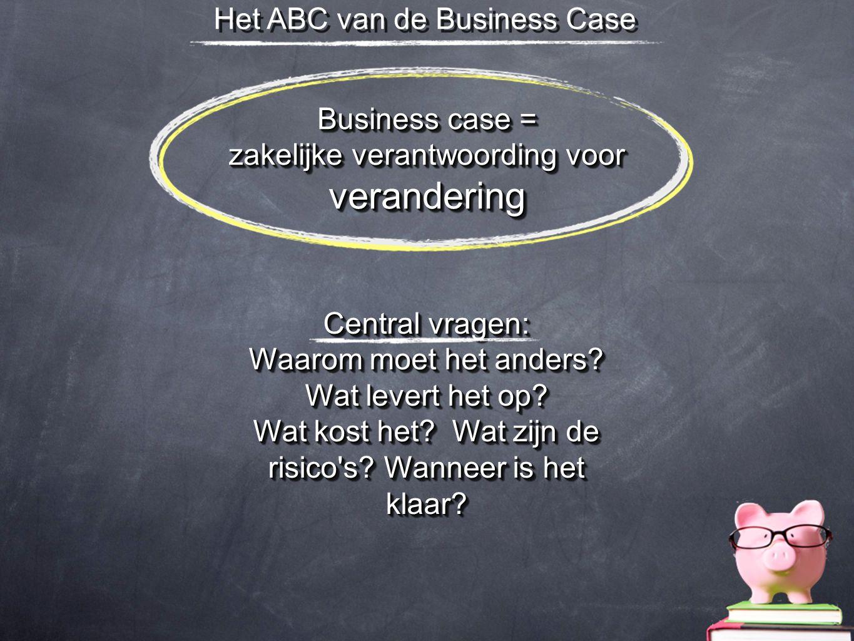 verandering Het ABC van de Business Case Business case =