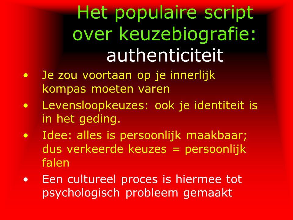 Het populaire script over keuzebiografie: authenticiteit