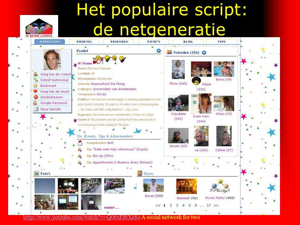 Het populaire script: de netgeneratie