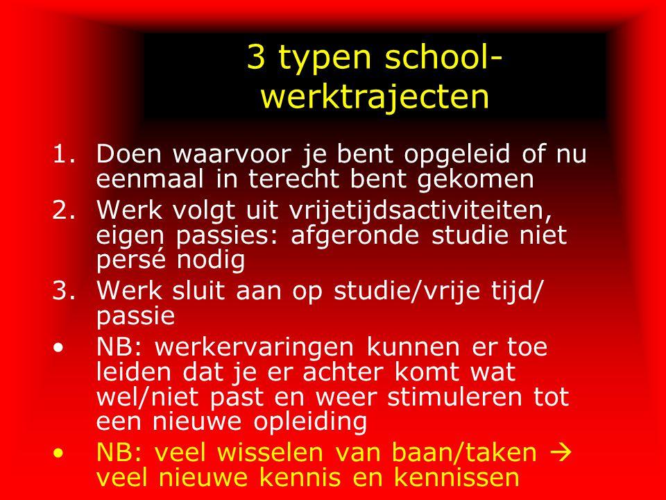 3 typen school-werktrajecten