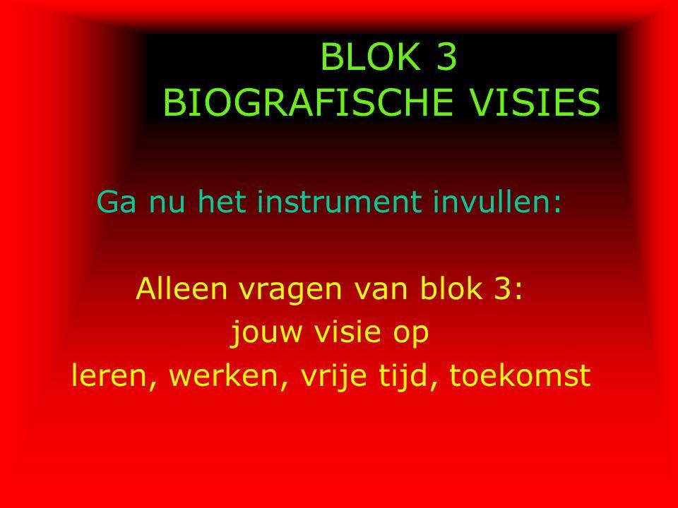 BLOK 3 BIOGRAFISCHE VISIES